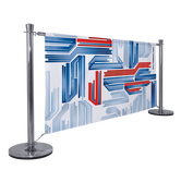 The Barrier System Premium is a custom alternative to the traditional stanchion and rope system.