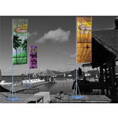 The T-Pole® is a versatile flagpole with a telescopic pole and different banner arm styles to fit any need.