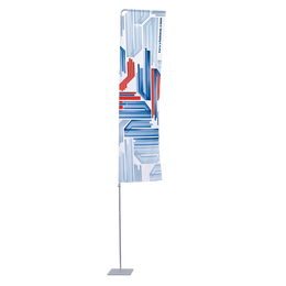 Portable Flagpole with Arm - Large