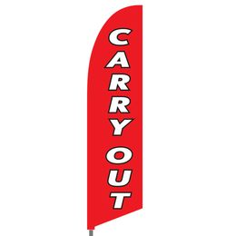 Carry Out Feather Flag Set