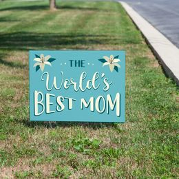 World's Best Mom Yard Sign