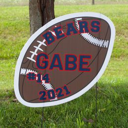 Football personalized yard signs