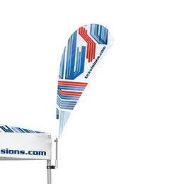 Advertising Tent Feather Flag 90°