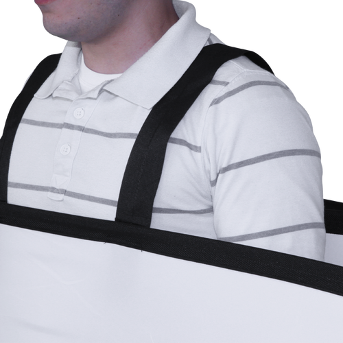 This Pop Out Walking Billboard model adds shoulder straps to a Pop Out panel to create a mobile display