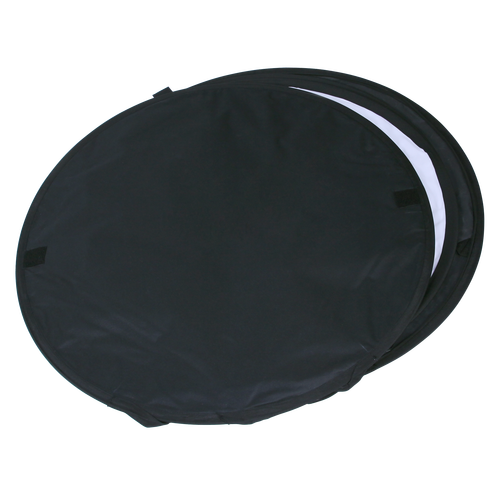 Your client can fold up their Pop Out Walking Billboard to fit into the 3' diameter carrying case for travel
