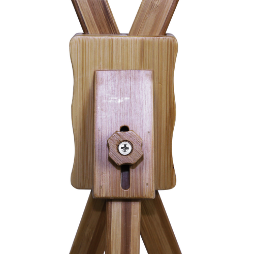 The hardware for the X-Display Bamboo allows the user to easily adjust and collapse this banner stand