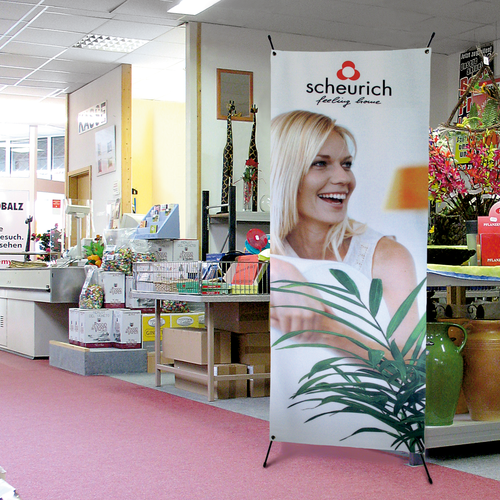 The X-Display is an inexpensive and user-friendly banners stand that is ideal for high-traffic areas