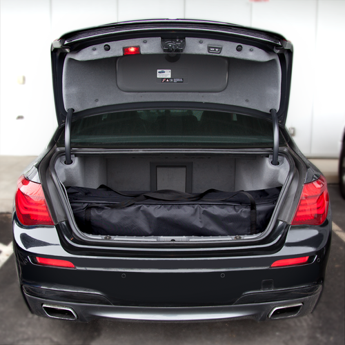 Compact enough to fit in the trunk of a car