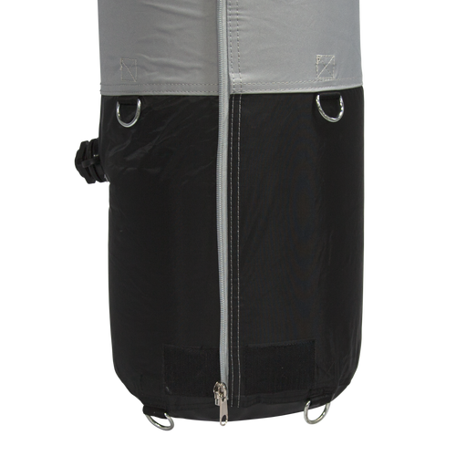 Weight Bag is completely concealed when tent is setup