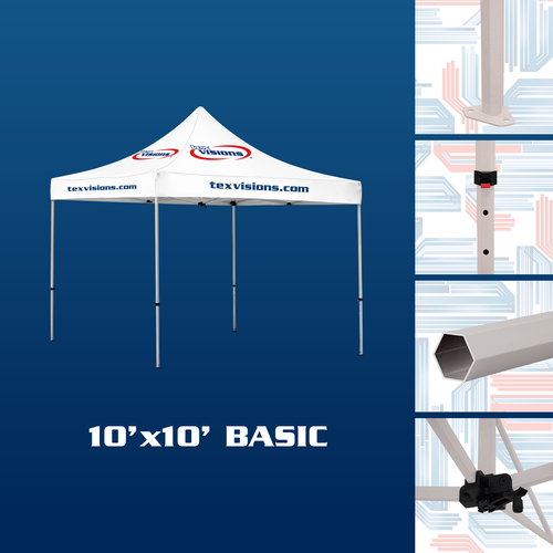 10' x 10' Basic tent is finished in steel