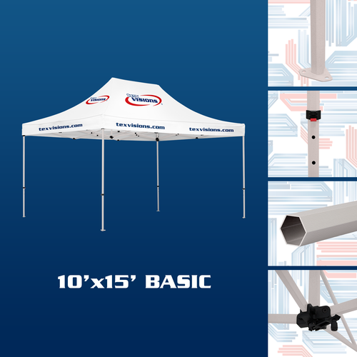 10' x 15' Basic Tent available in off-white finish