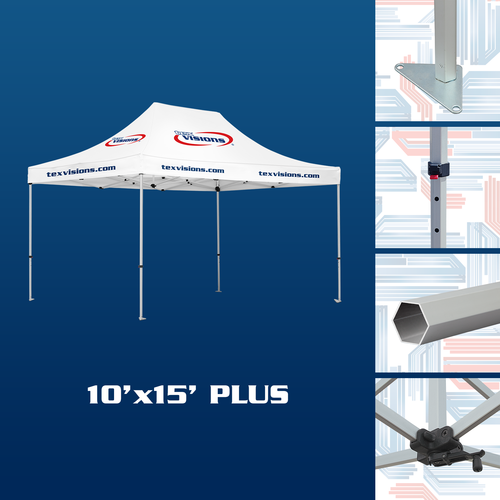 10' x 15' Plus Tent available in silver finish