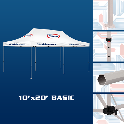 10' x 20' Basic Tent available in cream white finish