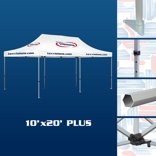 10' x 20' Plus Tent available in silver finish