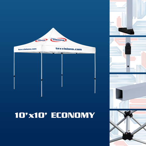 10' x 10' Economy tent is finished in steel