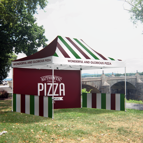 Use our all over print tents to broadcast your client's brand to interested parties