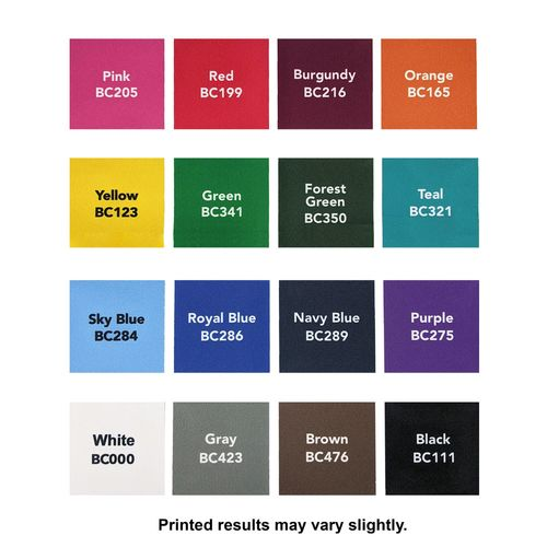 Choose from one of the many background color options