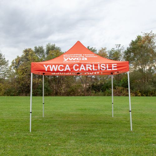 A custom tent made for the local YWCA