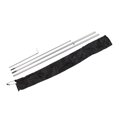 Pole sets include aviation-grade fiberglass poles, clamp set and carrying case