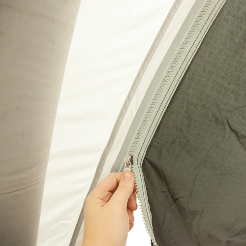 Air Tent Tunnel easily zips to Air Tent canopy