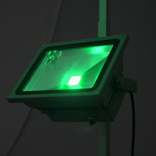 LED flood light with green color setting