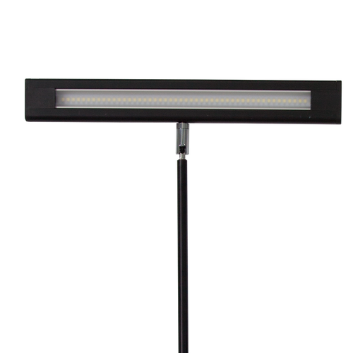 Light is extra-wide and provides an even distribution of light across the display