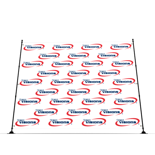 Banners can be ordered in a variety of sizes - all the way up to 10x10