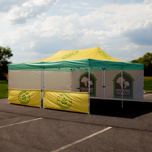 Custom printed Advertising Tent 20' x 20' with walls