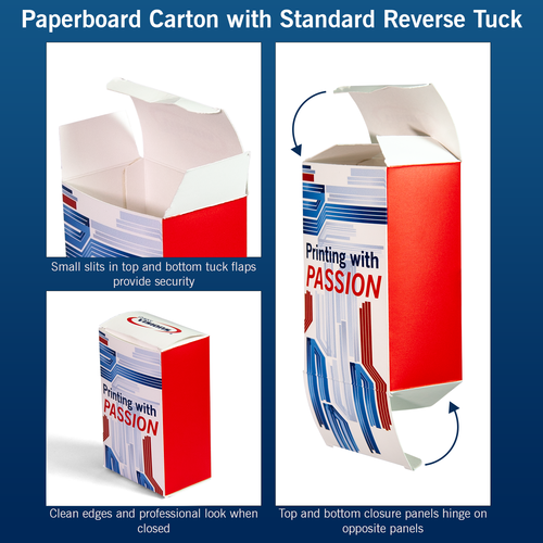 Paperboard Carton with Standard Reverse Tuck explained