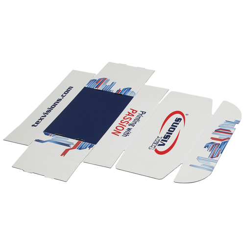 Paperboard Mailers ship flat for economic reasons and are easily constructed in seconds