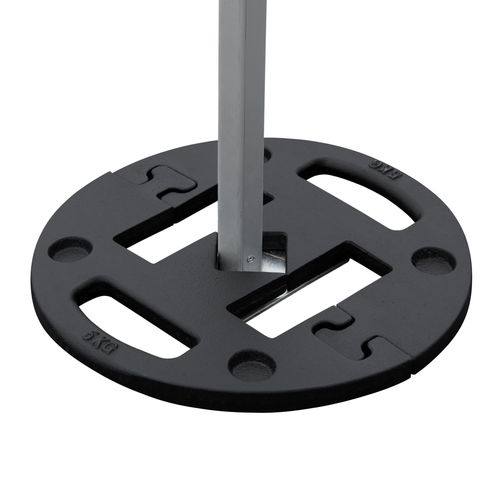 Square middle is used for placing in one tent leg