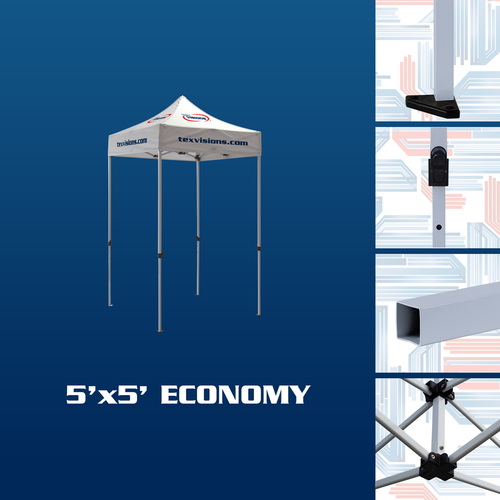 Features of the 5' x 5' economy tent frame