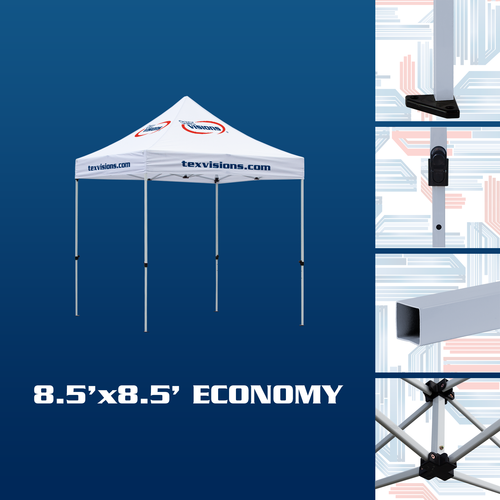 Features of the economy tent frame option