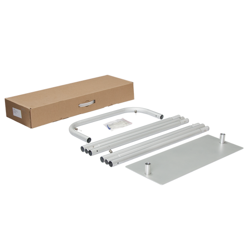 Suspension Banner Stand hardware includes base, poles, gloves and carrying box