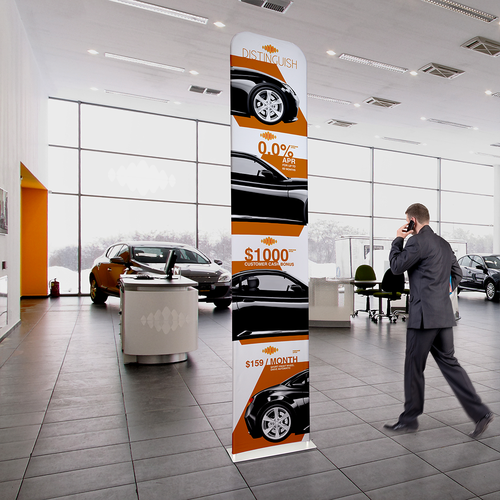 Set up this display in business lobbies and waiting areas