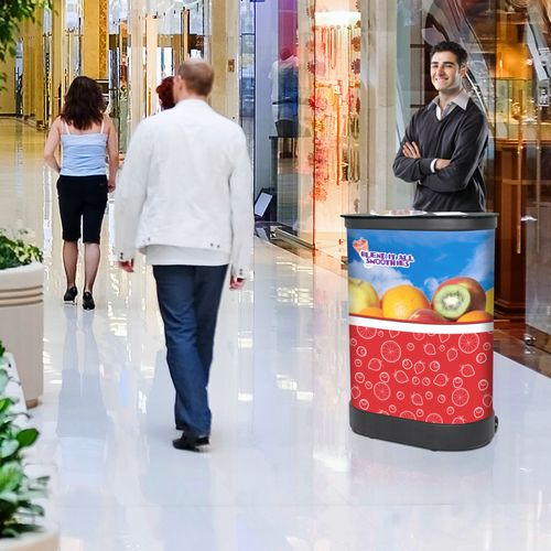 Display in malls and outside storefronts