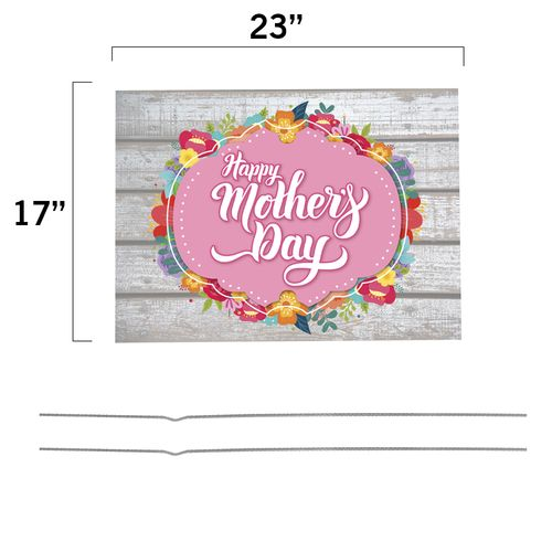 Mother Day Yard Sign Dimensions