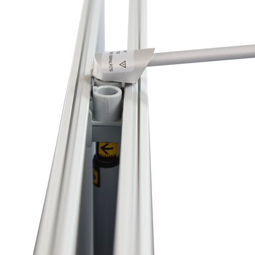 Double-Sided Roll Ups feature support poles with 2 attachments for Roll Up Lights