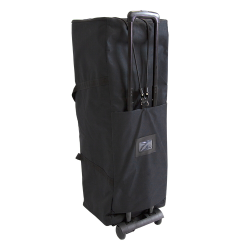 Smaller and larger carrying cases can be used on the Pop Up Trolley if desired