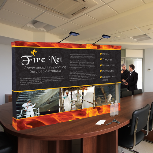 Pop Ups are great for all types of indoor settings such as conference rooms or tradeshows