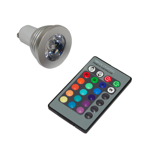 Included with your Roll Up Light Color Changer - Black is the bulb and remote for using the light