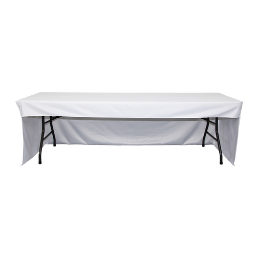 Tex Visions offers table covers in 4-sided and 3-sided coverage to satisfy your clients' needs
