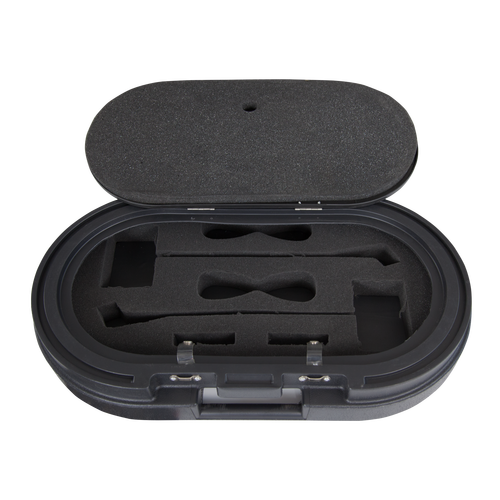 Features padded lid to protect items that shift during transport