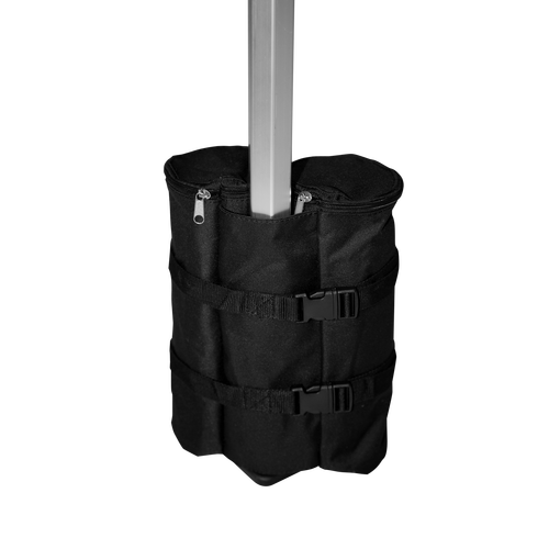 Tent leg is securely weighed down by Sand Bag Weight to provide extra stability