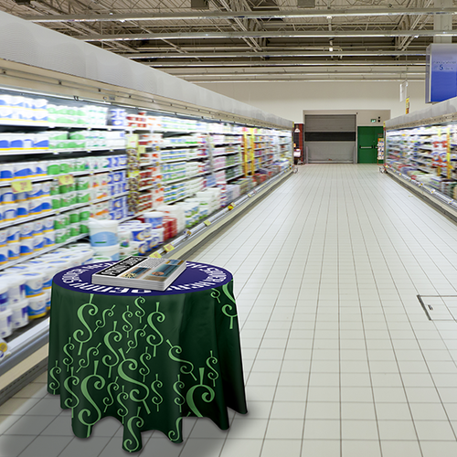 Perfect for use in grocery and retail stores for samples and tastings