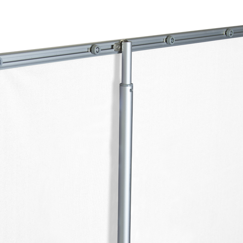 Clamping rail secures inside support poles
