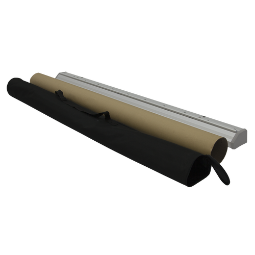 Comes in carrying case and base is placed inside cardboard tube to keep unit secure