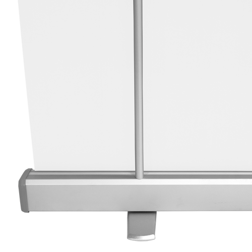 Support poles stand straight and secure when display is up
